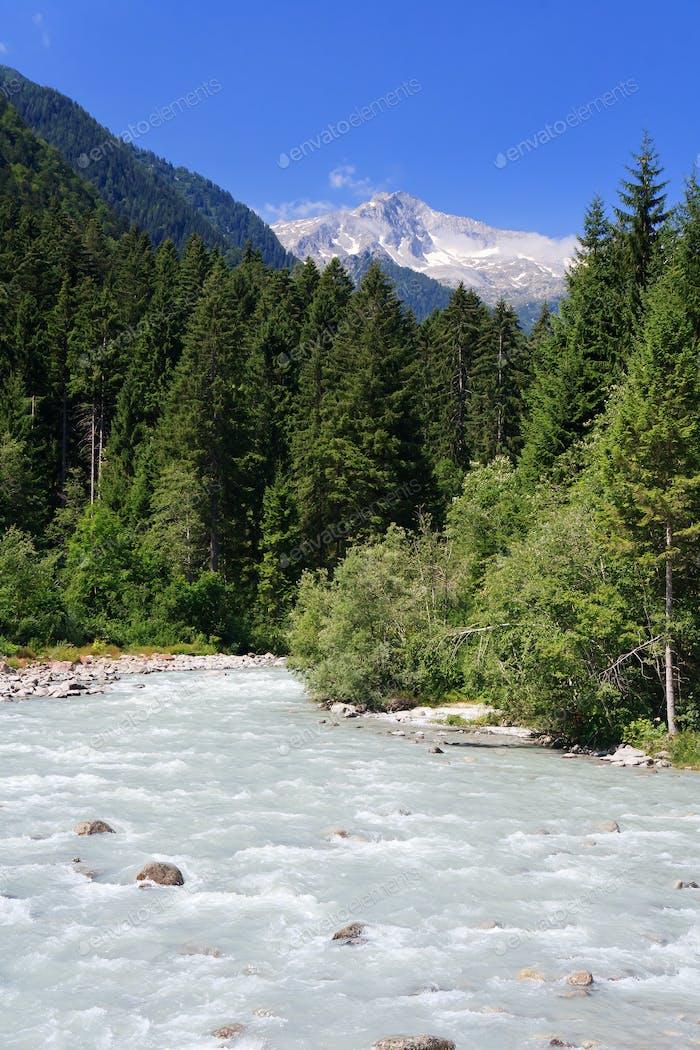 Sarca stream, Trentino, Italy