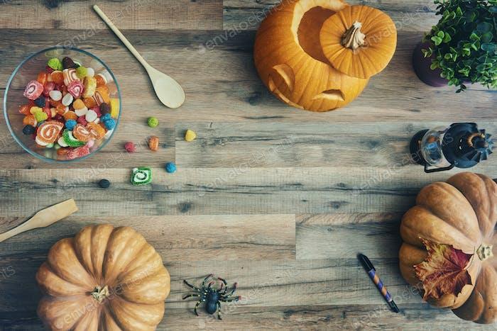 Vorbereitung für Halloween