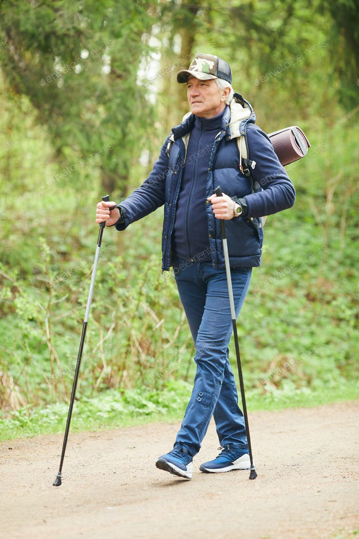 Nordic Walk in Forest