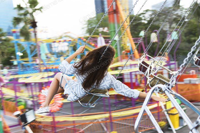 Swing Spining Amusement Carninal Enjoyment Concept