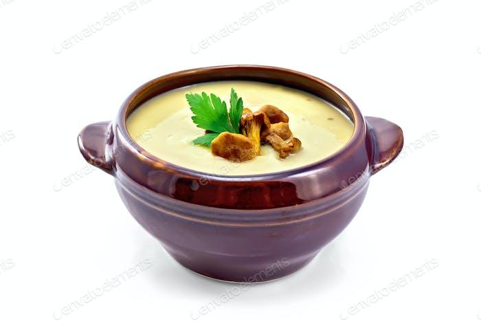 Suppenpüree Pilz in Tonschüssel