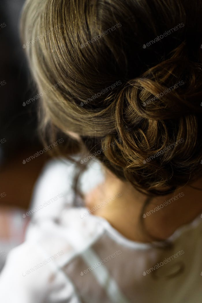 bride hair back