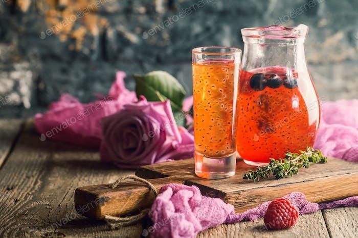 Fresh berry drink