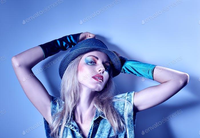 Fashion beauty in denim