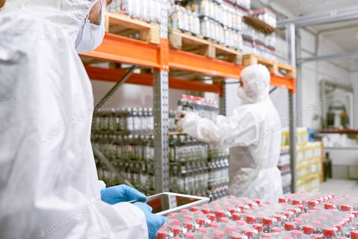 Working in Food Factory Warehouse