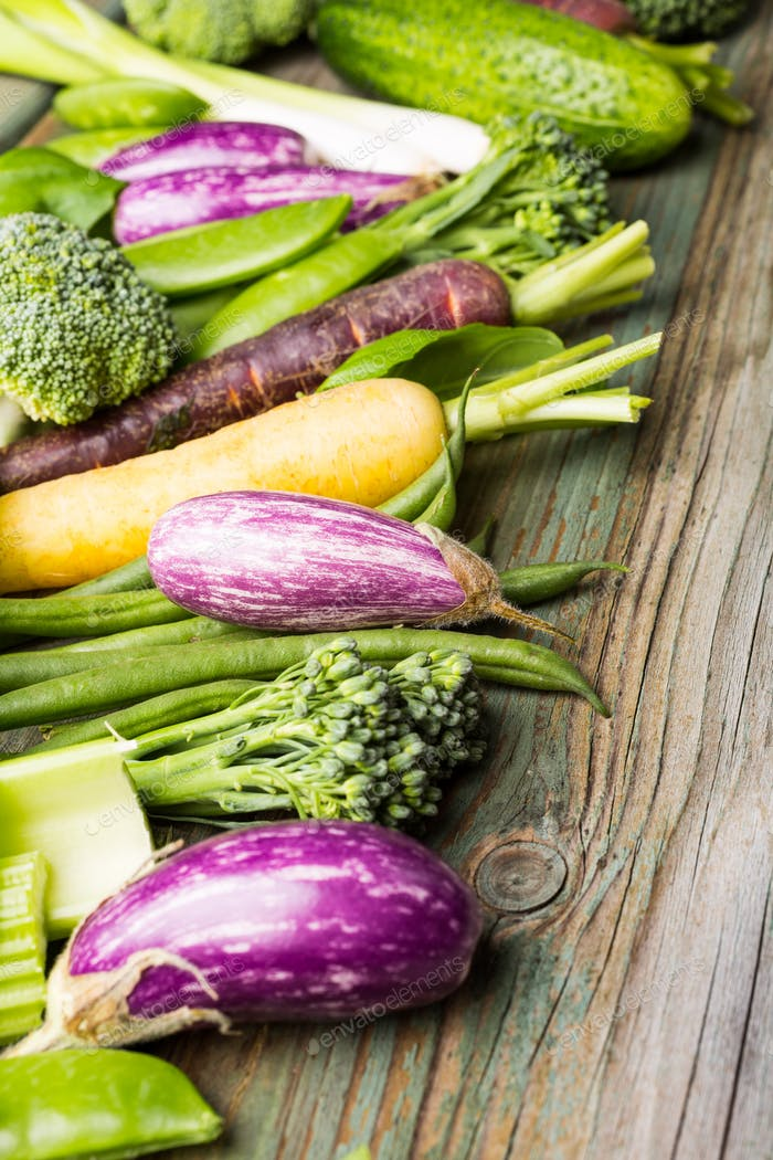Fresh vegetables background