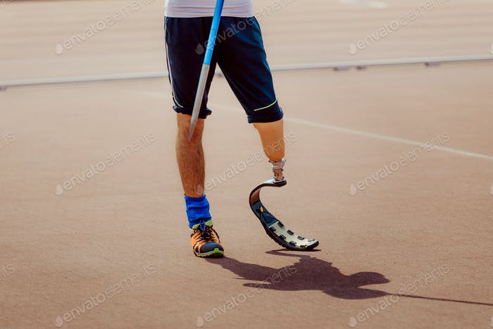man disabled athlete