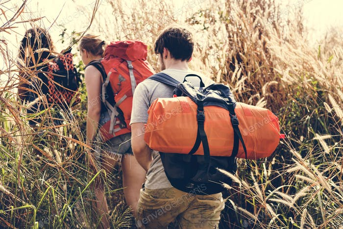 Backpackers on an adventure