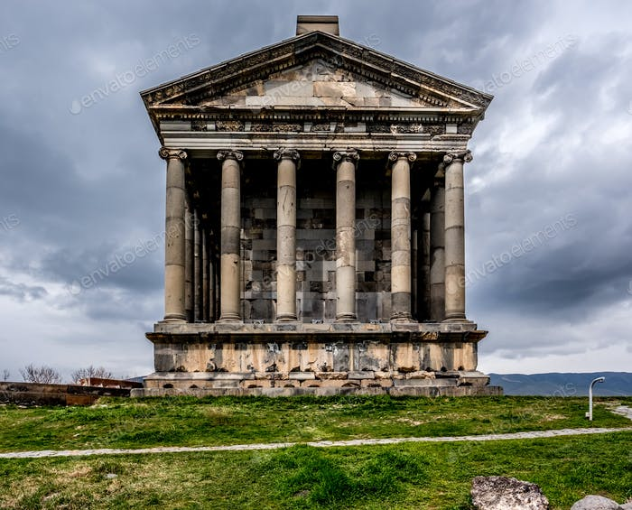 Ancient Garni pagan Temple in Armenia