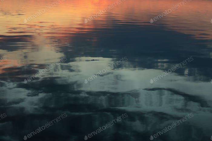 Amazing sunset river. Beautiful nature wallpaper on whole background