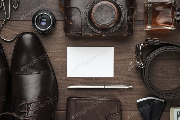 Men's Accessories On The Table