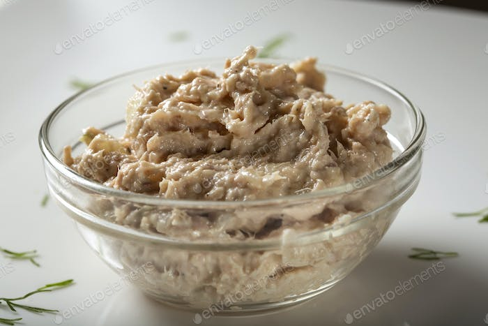 Homemade paste made from tuna fish