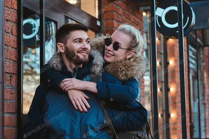 Romantic couple has an amaizing time together