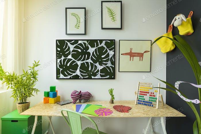 Creative style child study room