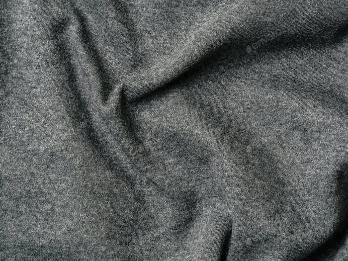 Gray cotton jersey fabric texture