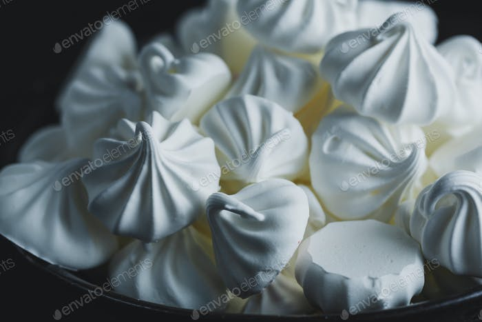 Homemade merengue on plate