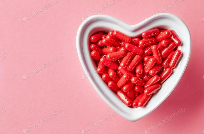 bowl of medicine pills
