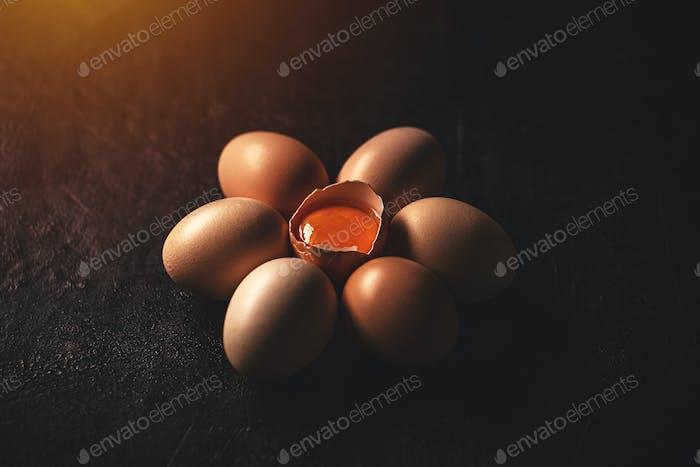 Rohe Hühnereier
