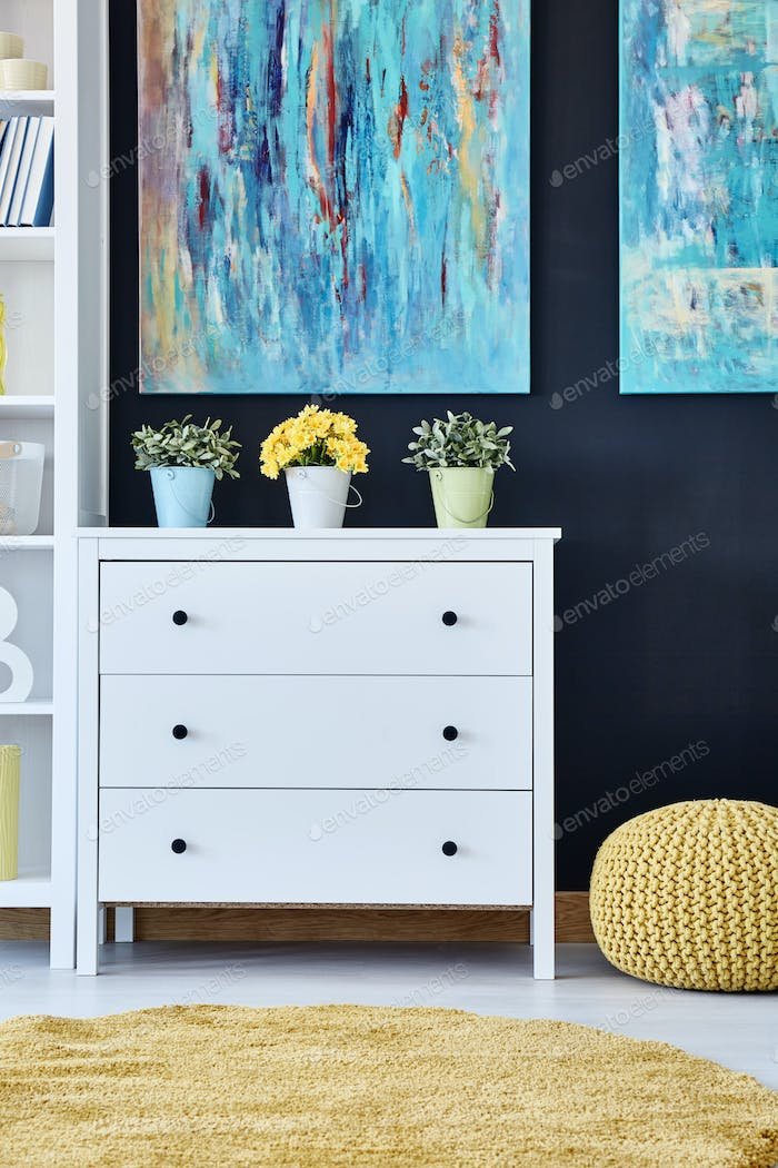 Chest of drawers in living room