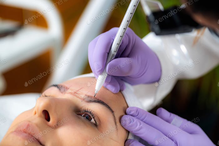 Professional Microblading of Eyebrows
