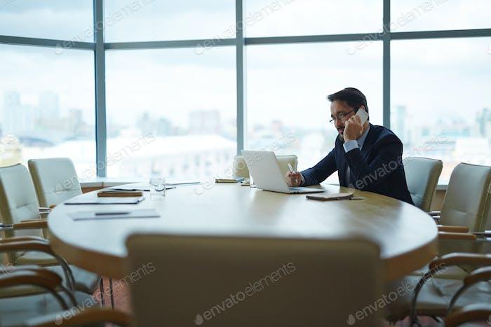 Empresario en Trabajo