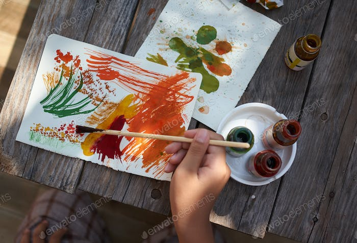 Thumbnail for Colorful painting of nature by kid