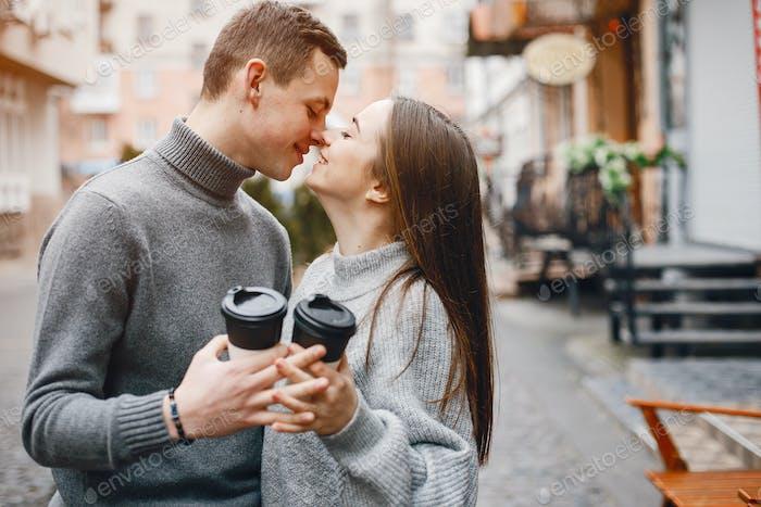 couple avec café