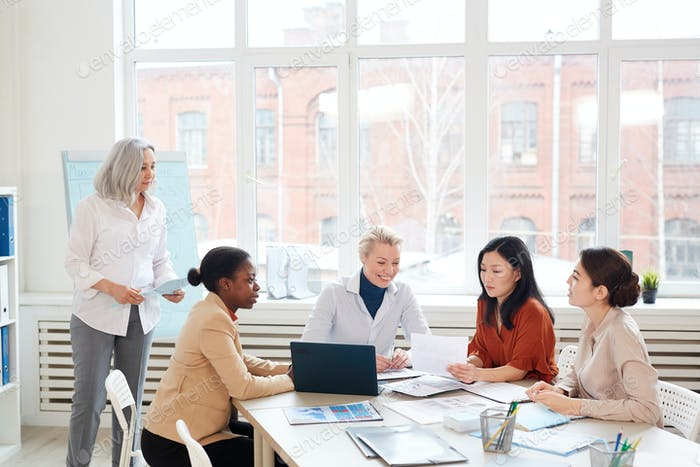 Diverse Group of Women at Business Meeting