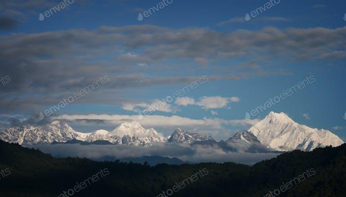 Snowy mountains of Tibet
