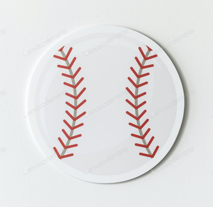 Cut out paper baseball graphic