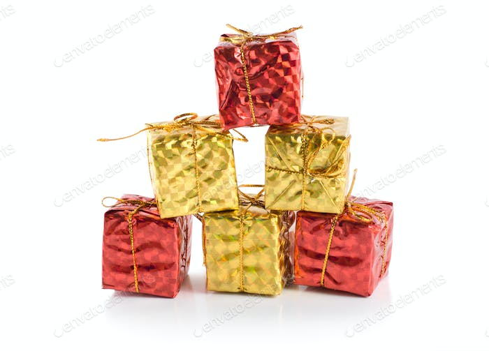 Colorful gift boxes isolated
