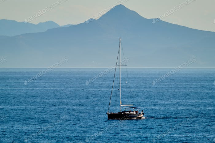 Yacht in Aegean Sea