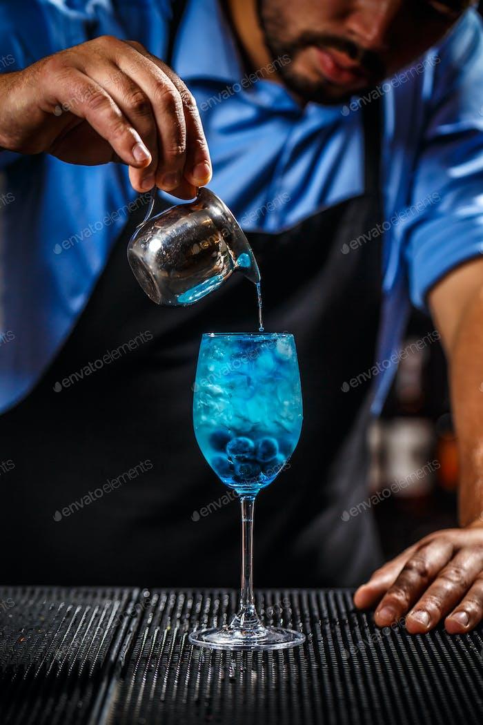 Blue laguna cocktail