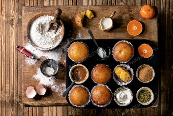 Citrus oranges muffins