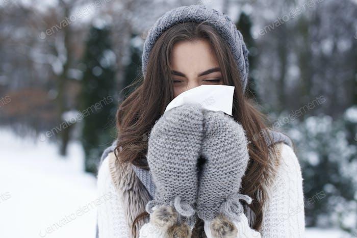 Illness in winter is very popular