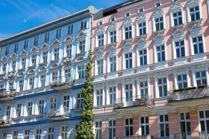 Restaurierte Häuser in Berlin