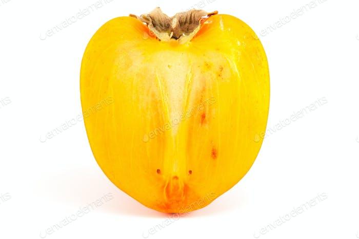 in Scheiben geschnittene Orange Persimmon