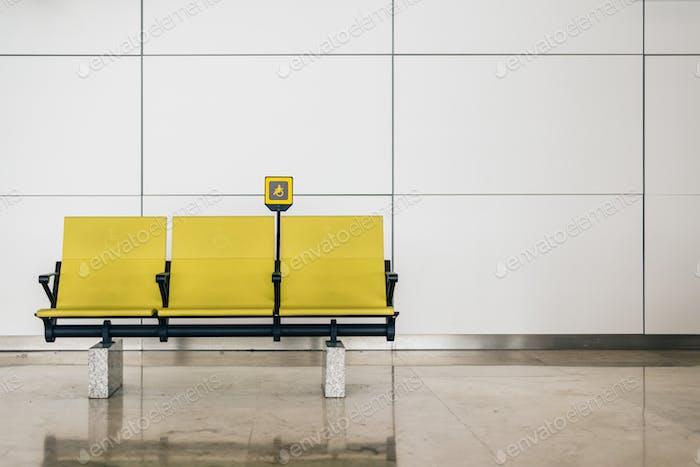 Desactivar los asientos amarillos en el aeropuerto