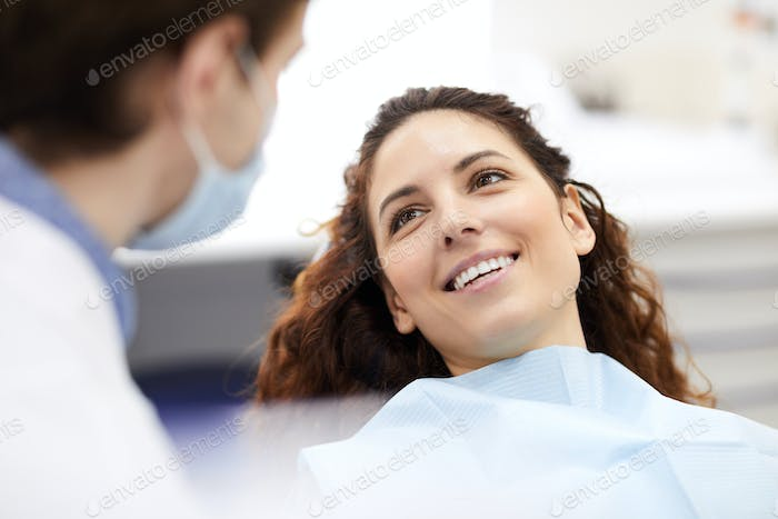 Beautiful Woman in Dentists Chair