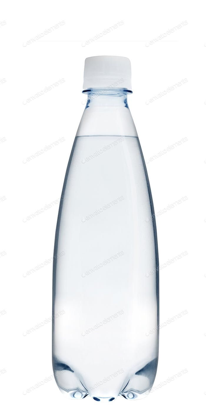 Small glass water bottle