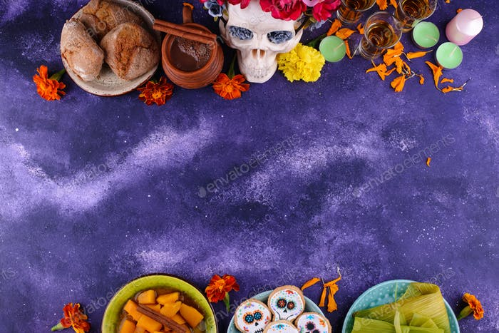 Traditional Day of the dead food