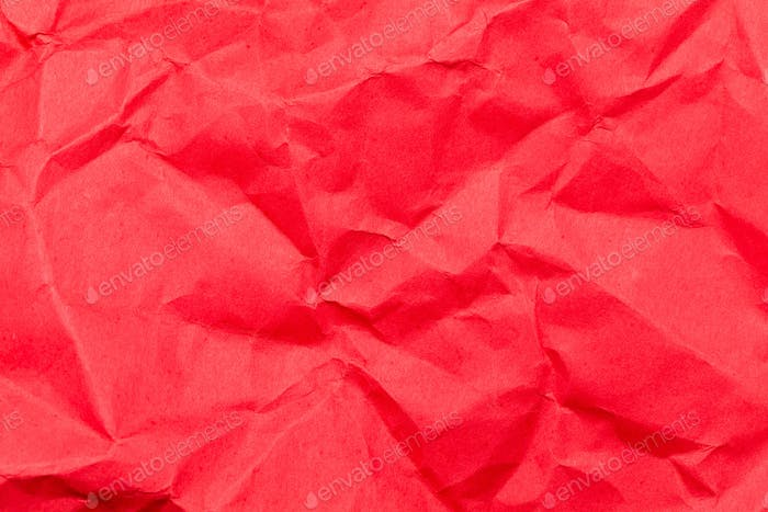 Red old crumpled paper