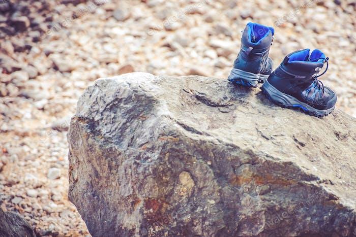 Chaussures de trekking de séchage