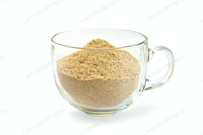 Flour sesame in cup