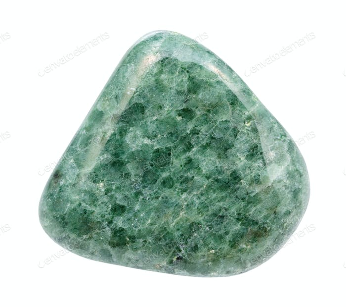 polished Jadeite (green jade) gem stone isolated