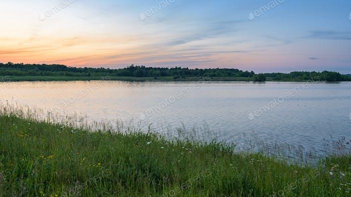 Pogoria 4 See bei Sonnenuntergang