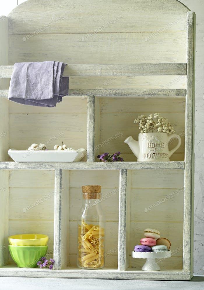 Kitchen Wooden White Cupboard