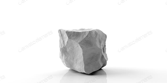 Marble stone on white background. 3d illustration