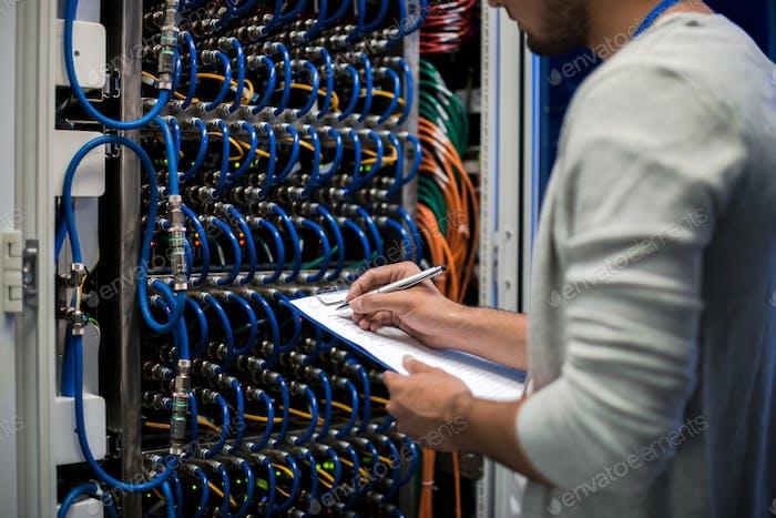 Network Engineer Writing Data