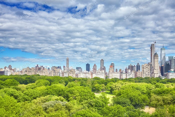 Central Park and Manhattan Upper East Side, NYC.